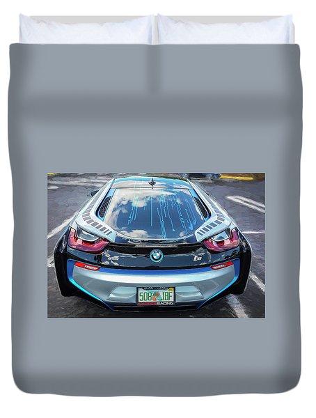 2015 Bmw I8 Hybrid Sports Car Duvet Cover by Rich Franco