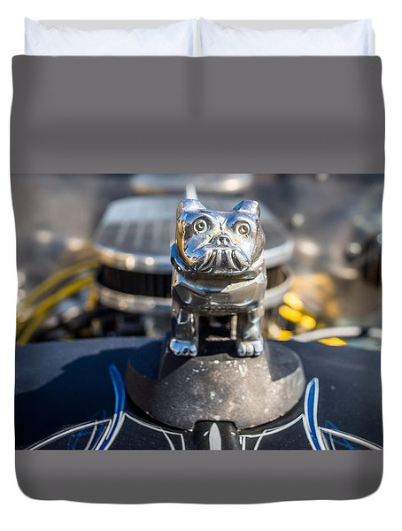 Duvet Cover featuring the photograph 51 Ford F-1 Rat Rod - Ehhs Car Show by Michael Sussman