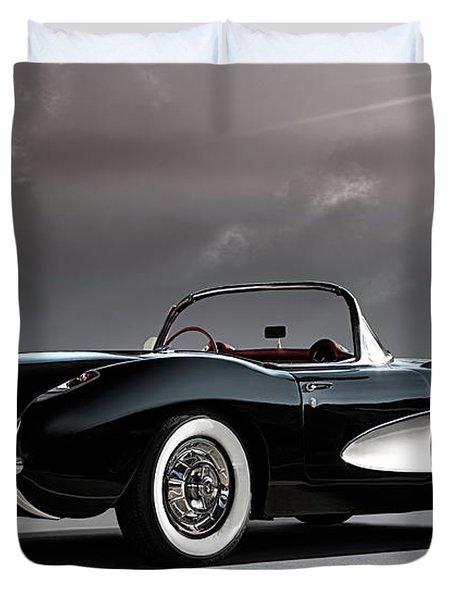 '56 Corvette Convertible Duvet Cover
