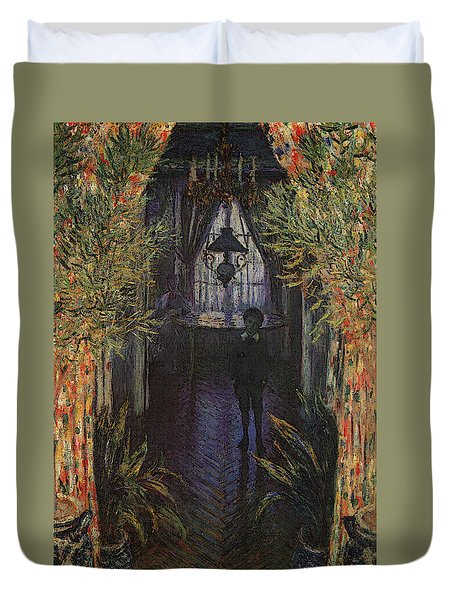 A Corner Of The Apartment Duvet Cover by Claude Monet