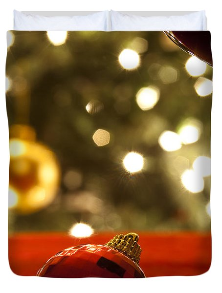 A Drink By The Tree Duvet Cover