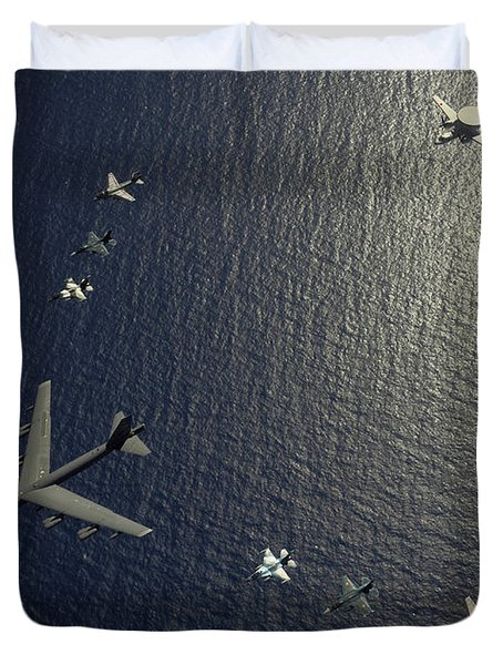 A U.s. Air Force B-52 Stratofortress Duvet Cover by Stocktrek Images