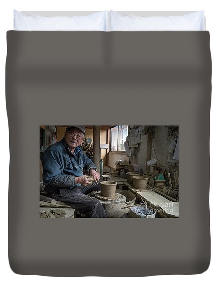 A Village Pottery Studio, Japan Duvet Cover
