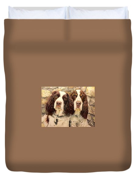 Abby And Romeo Duvet Cover