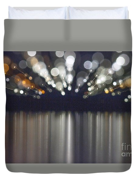 Abstract Light Texture With Mirroring Effect Duvet Cover