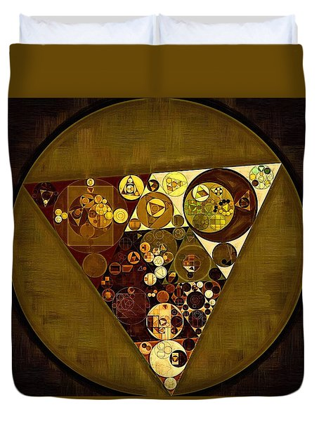 Abstract Painting - Golden Sand Duvet Cover by Vitaliy Gladkiy