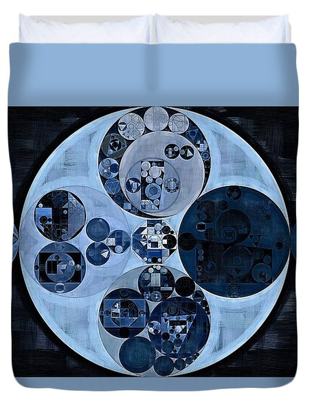 Duvet Cover featuring the digital art Abstract Painting - Polo Blue by Vitaliy Gladkiy