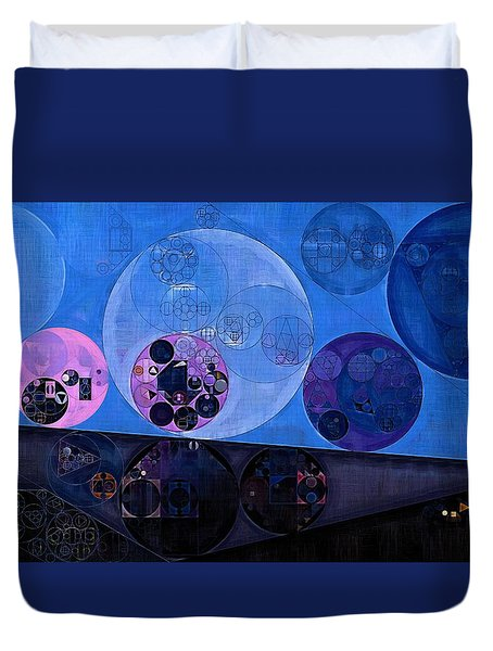 Duvet Cover featuring the digital art Abstract Painting - Saint Patrick Blue by Vitaliy Gladkiy