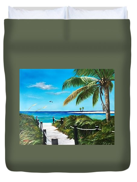Access To The Beach Duvet Cover
