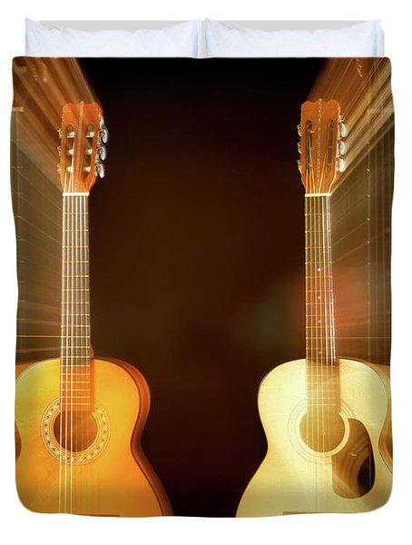 Acoustic Overtone Duvet Cover by Leland D Howard