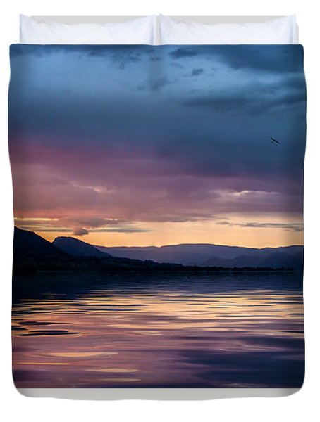 Duvet Cover featuring the photograph Across The Clouds I See My Shadow Fly by John Poon