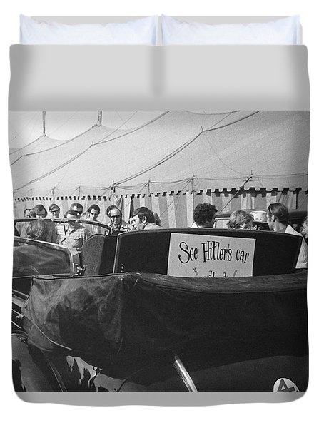 Adolf Hitlers Mercedes Benz 770k Touring Car Circus Tent Scottsdale Arizona 1973-2016 Duvet Cover