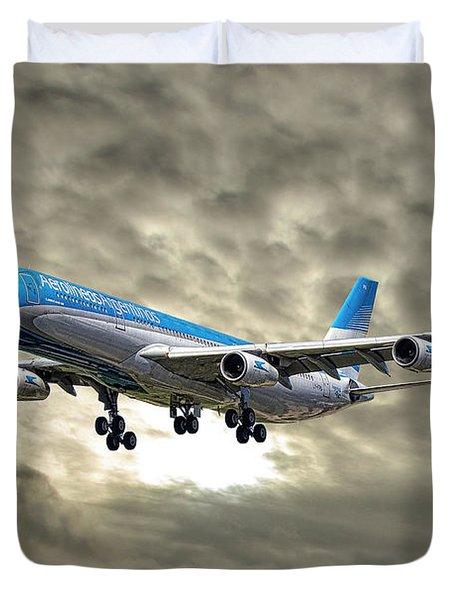 Aerolineas Argentinas Airbus A340-313 Duvet Cover