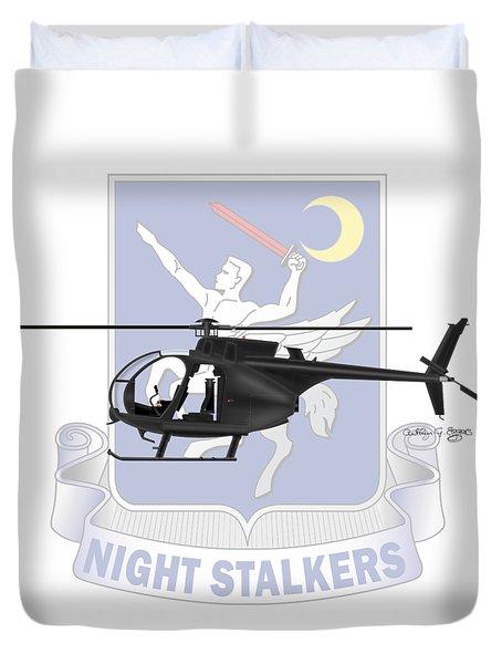 Ah-6j Little Bird Night Stalkers Duvet Cover by Arthur Eggers