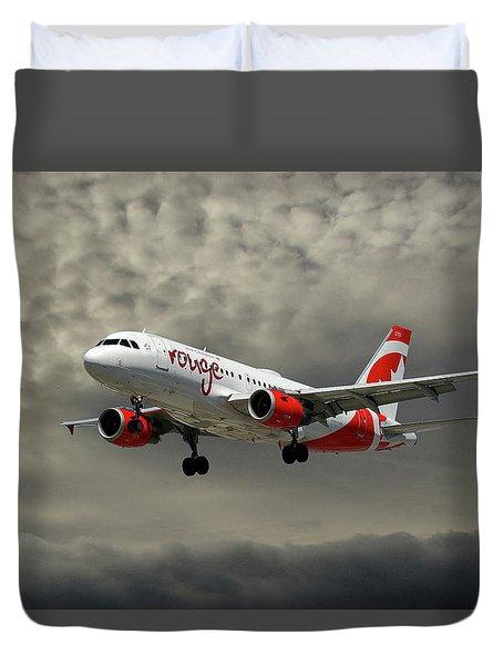 Air Canada Rouge Airbus A319 Duvet Cover