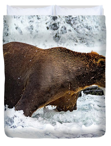 Alaska Brown Bear Duvet Cover