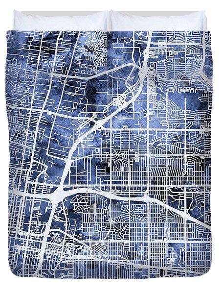 Albuquerque New Mexico City Street Map Duvet Cover