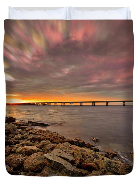 Duvet Cover featuring the photograph Amelia Island by Peter Lakomy