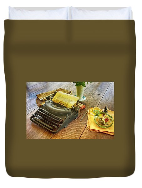 An Author's Tools Duvet Cover