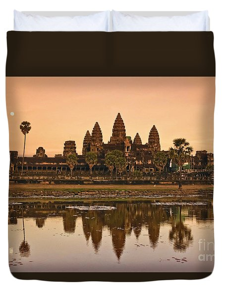Duvet Cover featuring the photograph Angkor Wat by Juergen Held