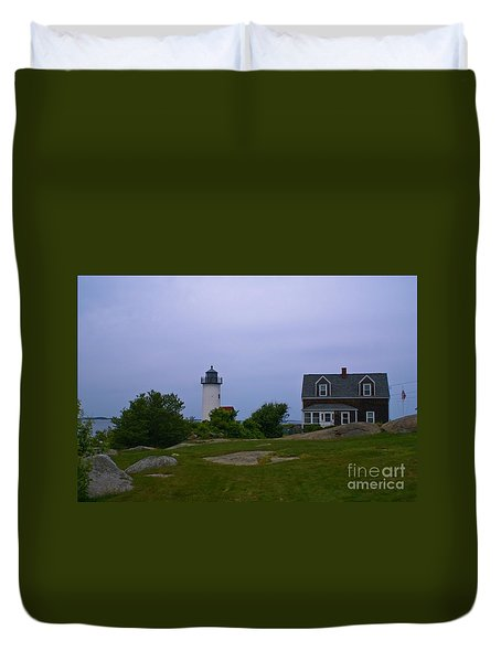Annisquam Light. Gloucester, Ma. Duvet Cover