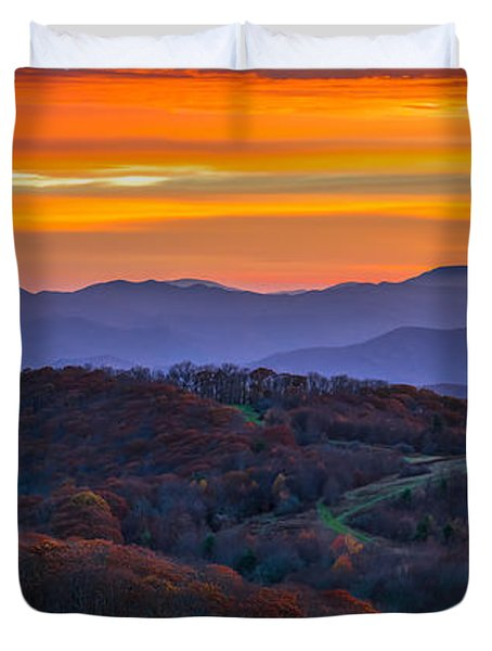 Appalachian Sunrise Duvet Cover by Serge Skiba