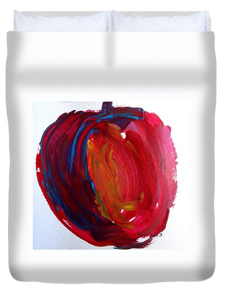 Apple Duvet Cover by Fred Wilson