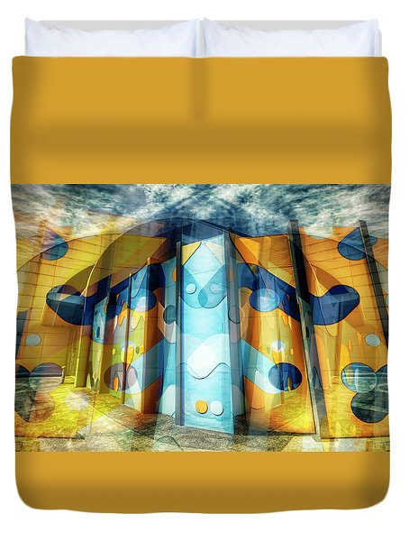 Duvet Cover featuring the photograph Architectural Abstract by Wayne Sherriff