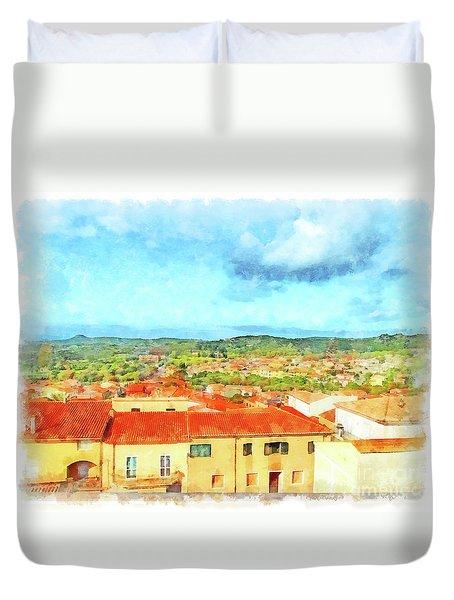 Arzachena Landscape Duvet Cover