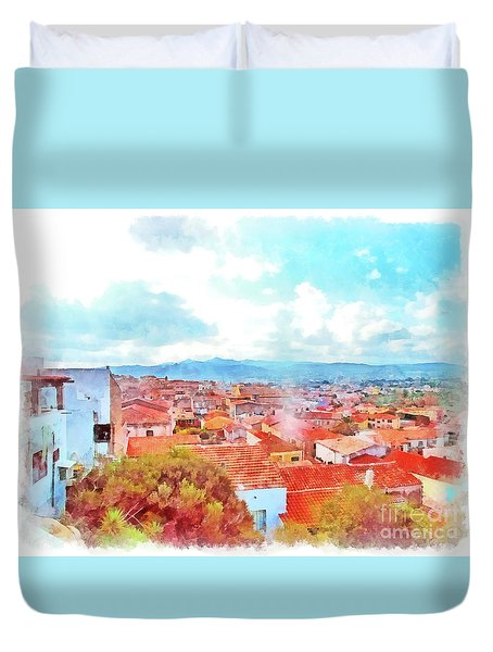Arzachena View Duvet Cover