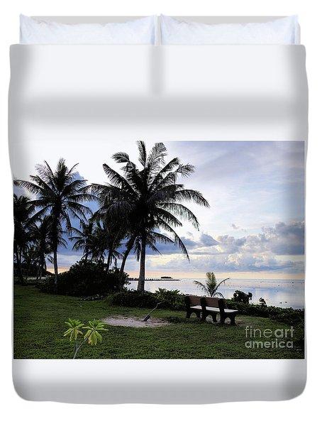 Asan Beach Guam Duvet Cover