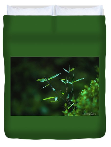 Duvet Cover featuring the photograph At Peace by Gene Garnace