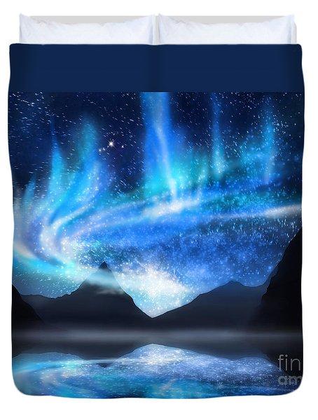 Aurora Borealis Duvet Cover by Setsiri Silapasuwanchai