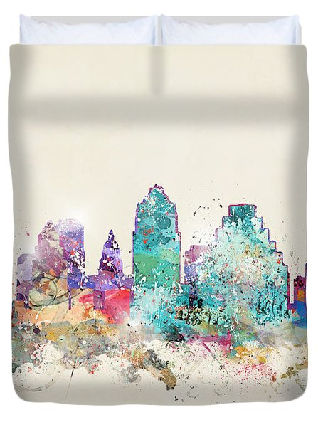 Austin City Texas Duvet Cover