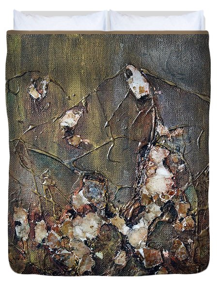 Duvet Cover featuring the painting Autumn Leaves by Joanne Smoley