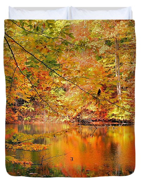 Autumn Reflections Duvet Cover by Kristin Elmquist