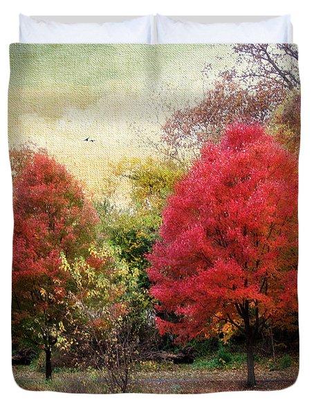 Autumn's Canvas Duvet Cover by Jessica Jenney
