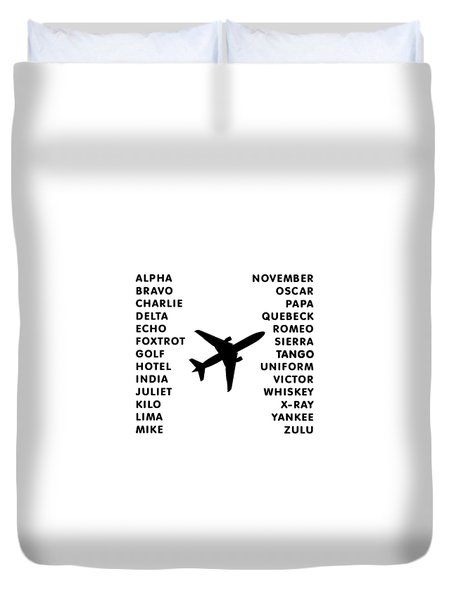 Aviation Code Duvet Cover