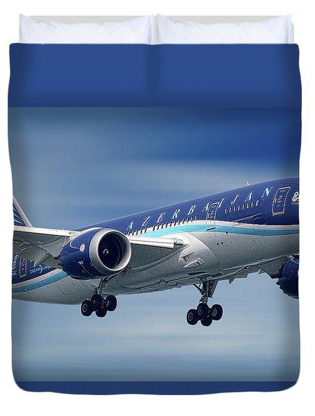 Azerbaijan Airlines Boeing 787 Dreamliner Duvet Cover