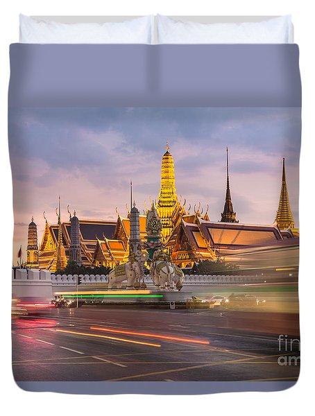 Bangkok Wat Phra Keaw Duvet Cover