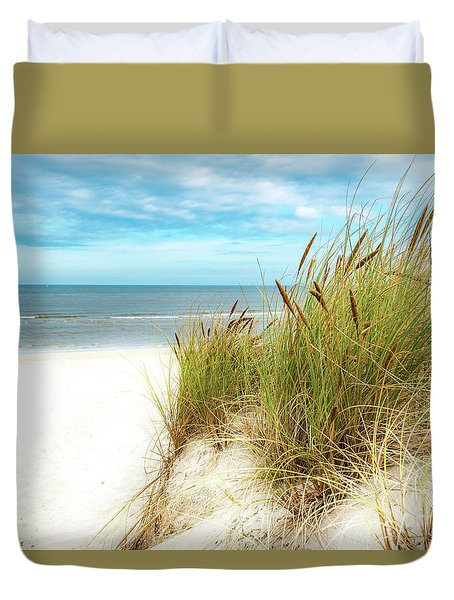 Duvet Cover featuring the photograph Beach Grass by Hannes Cmarits