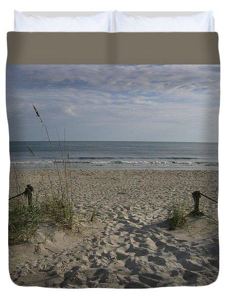 Beach House Backyard Duvet Cover