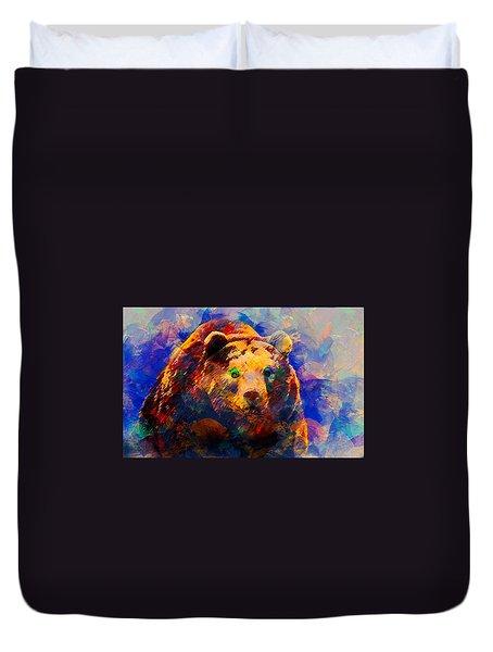 Bear Duvet Cover by Elena Kosvincheva