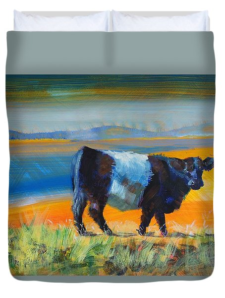Belted Galloway Cow Duvet Cover