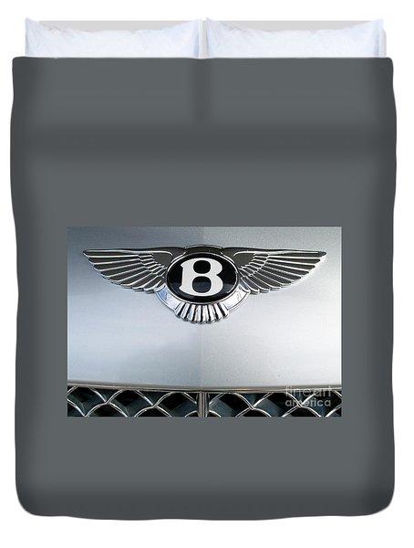 Bentley Emblem Duvet Cover by Pamela Walrath
