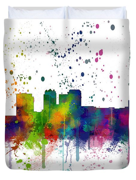 Birmingham Alabama Skyline Duvet Cover