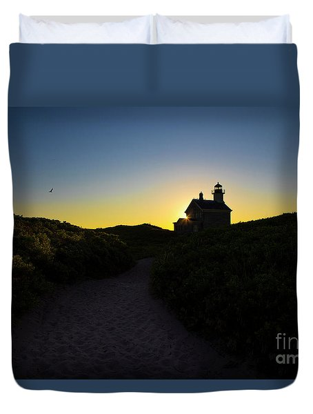 Block Island North Lighthouse Duvet Cover