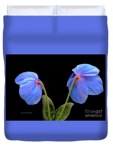 Blue Poppies Duvet Cover by Jeannie Rhode