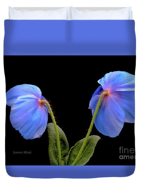 Blue Poppies Duvet Cover