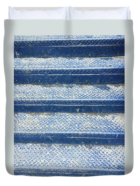 Blue Steps Duvet Cover